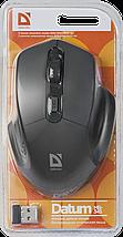 Беспроводная мышка Defender Datum MB-345, Black, компьютерная мышь дефендер для ПК и ноутбука, фото 3
