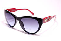 Солнцезащитные женские очки бабочка Miu Miu 11201 C6 реплика Фиолетовые с градиентом