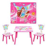 Детский Столик со стульчиками Винкс Bambi D 11551