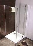 BENITA Right душевая кабина 90*90*200см, квадратная, поддон (PUF) 5 см с сифоном, распашная, хром, стекло прозрачное, фото 9