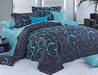 Двуспальный набор постельного белья Черешенка Gold №159844AB 180х220 Бязь (BC2G159844AB)