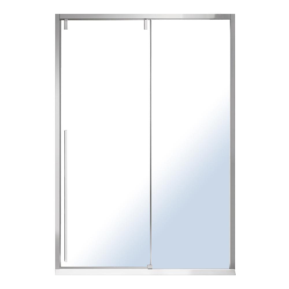 AIVA дверь в нишу 120*195см, раздвижная, прозрачное стекло 8мм, хром