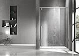 AIVA дверь в нишу 120*195см, раздвижная, прозрачное стекло 8мм, хром, фото 3