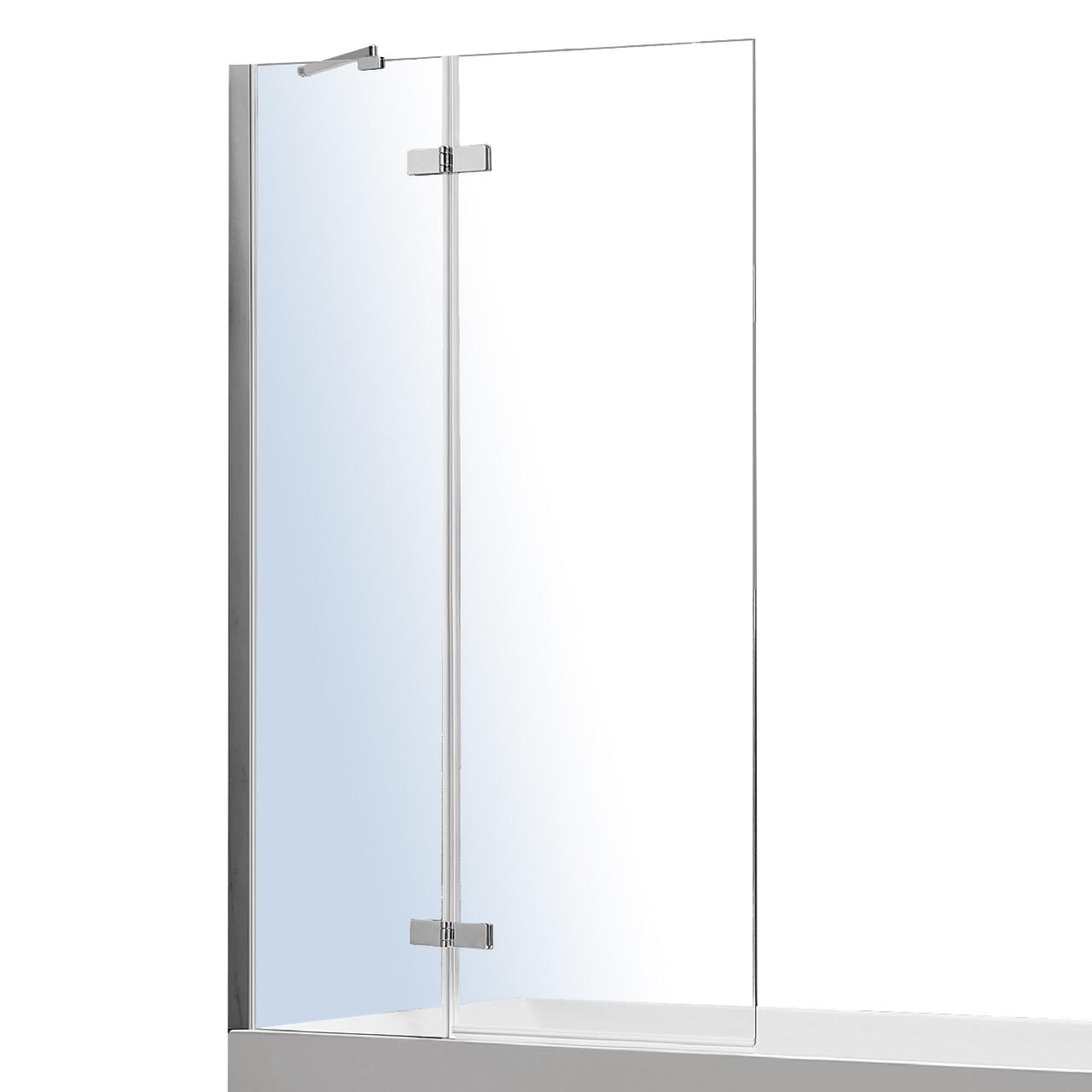 Шторка на ванну 100*140см, один фиксированный элемент, один подвижный на латунных петлях