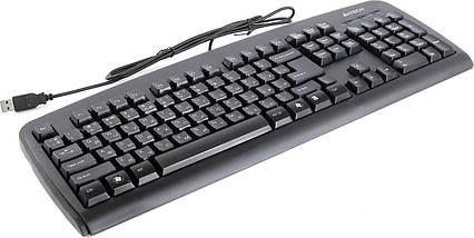 Клавиатура A4tech KB-720 USB Черная 107 key, w/Ukr. keys, ergonomic, фото 2