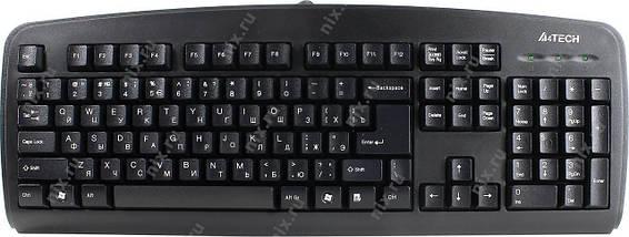Клавиатура A4tech KB-720 USB Черная 107 key, w/Ukr. keys, ergonomic, фото 3