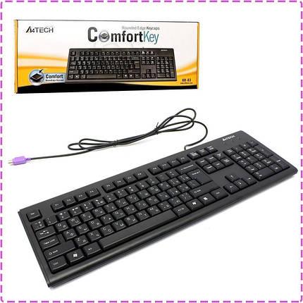 Клавиатура A4tech KR-83 PS/2 X-slim Черная 104клав, Большой Enter, фото 2