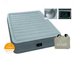 Intex Велюр матрас 67766 (3) одноместный, со встроенным насосом 220V, размер 191х99х33см