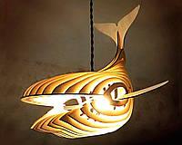 Люстра лофт деревянная дизайнерская РЫБА by smartwood