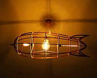 Люстра лофт деревянная дизайнерская РАКЕТА by smartwood