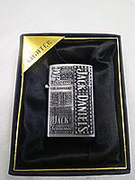 Зажигалка газовая карманная Jim Beam серебренная