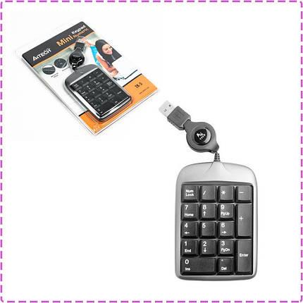 Цифровая клавиатура (кейпад) A4tech TK-5, black, USB, фото 2