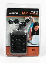 Цифровая клавиатура (кейпад) A4tech TK-5, black, USB, фото 3
