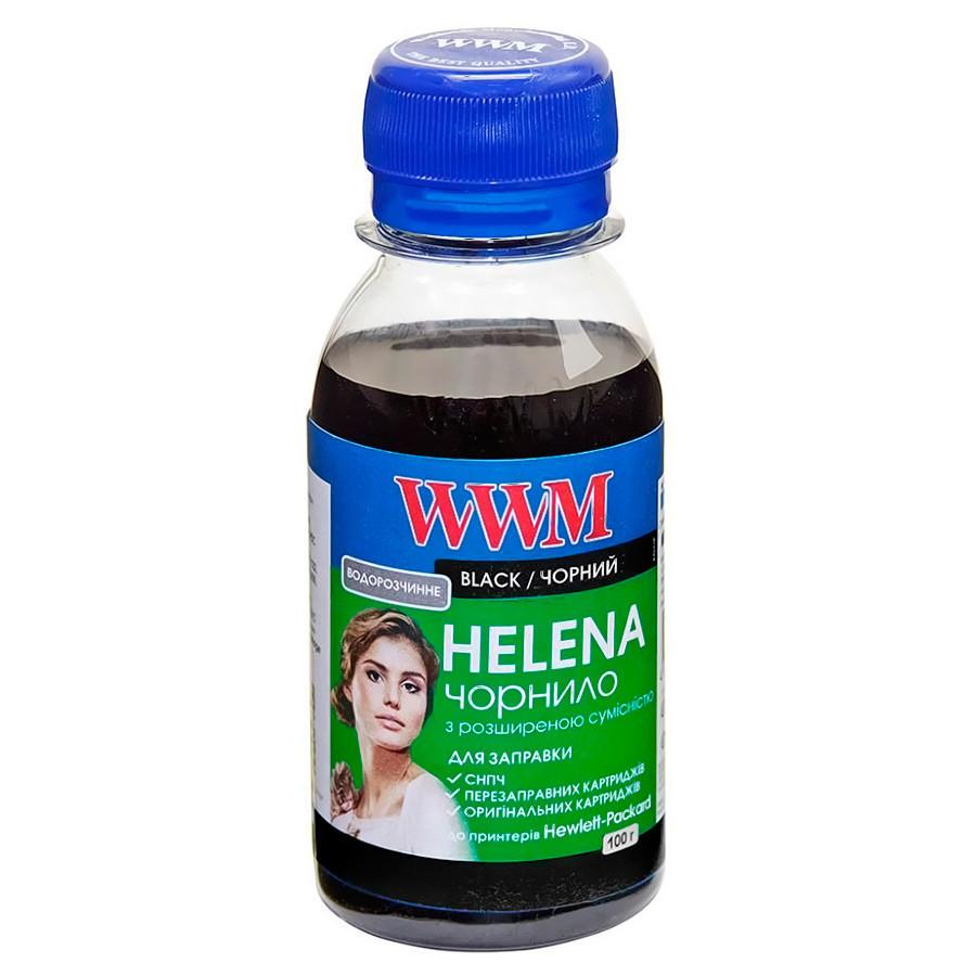 Чернила WWM HP Universal HELENA, 21/27/54/56/121/122/129/130/131/132/140/901, Black, 100 г (HU/B-2), краска