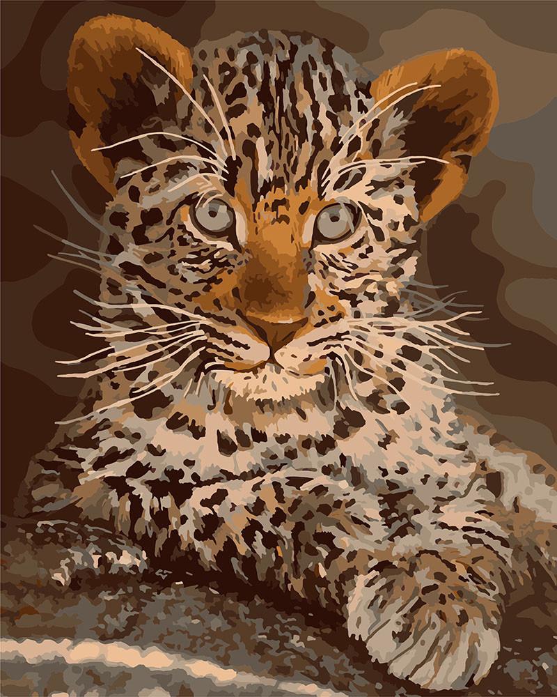 Рисование по номерам Маленький хищник KHO4169 Идейка 40 х 50 см (без коробки)