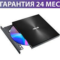 Внешний дисковод Asus ZenDrive U9M, черный, переносной оптический привод DVD, подключение USB (SDRW-08U9M-U)