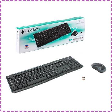 Беспроводный комплект Logitech Wireless Desktop MK270, USB Black (920-004518), беспроводная клавиатура + мышь, фото 2