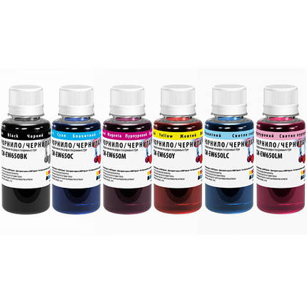 Комплект чернил ColorWay Epson TX650, 6x100 мл (CW-EW650SET01), краска для принтера эпсон, фото 2