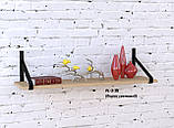 Настенная полка в стиле лофт PL-3-16 Loft Design, фото 2