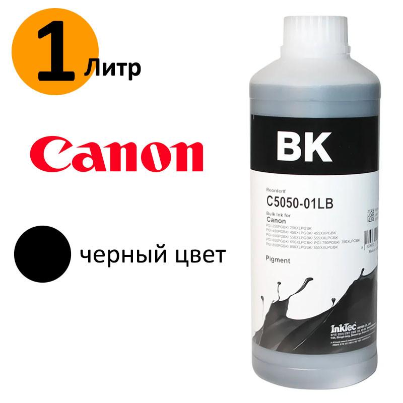 Чорнило InkTec для принтера Canon, Black Pigmented (чорні пігментні), 1 літр (C5050-01LB)