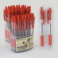 Набор шариковых ручек С 37078 (40) красная паста /ЦЕНА ЗА УПАКОВКУ 60ШТ/ диаметр пишущего узла 0,7 мм