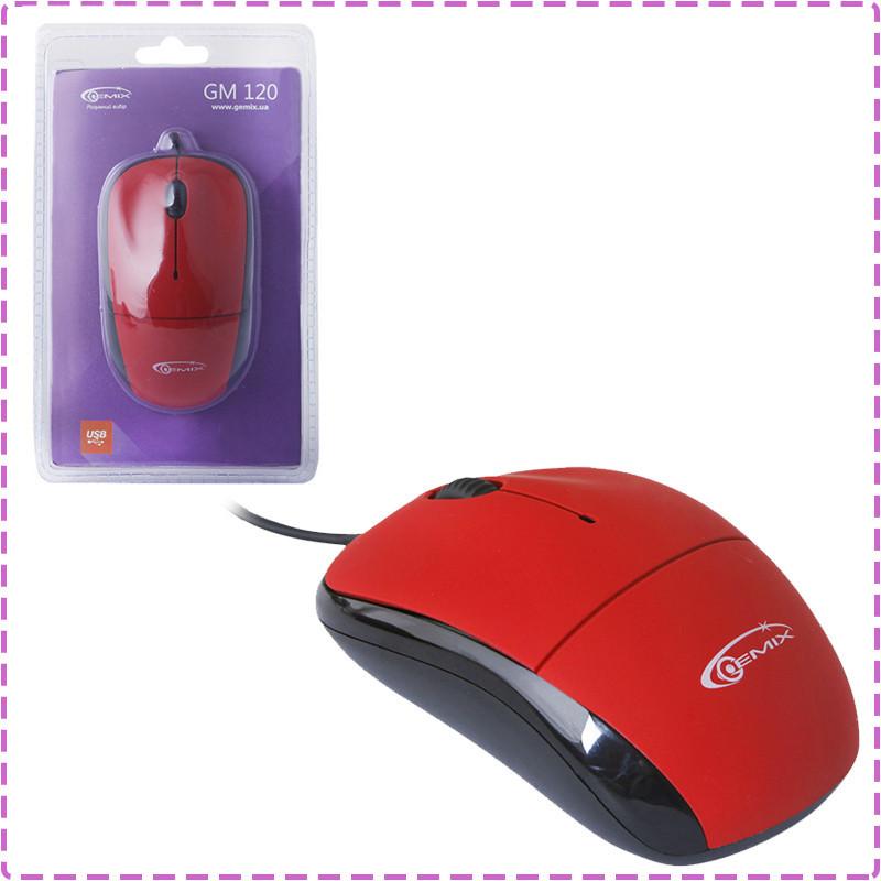 Мышь Gemix GM120 Red, Optical, USB, 800 dpi, мышка