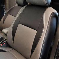Чехлы на сиденья Peugeot 408 2012-2018 из Экокожи (Союз АВТО), полный комплект (5 мест) Пежо 408