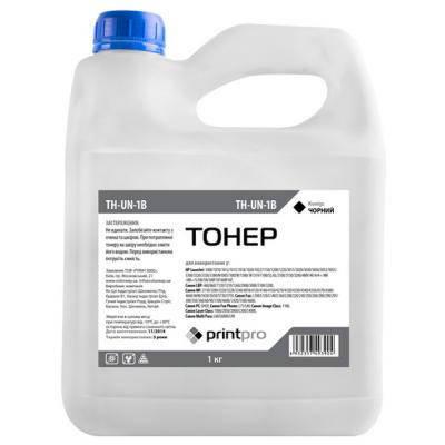 Тонер HP Универсальный 1010/1200/1300, 1 кг, PrintPro (TH-UN-1B), фото 2
