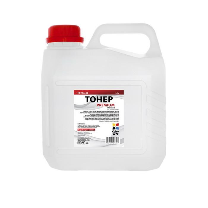 Тонер HP Универсальный P1005/P1505/P2015/P2035/P2055/P4015, 2.5 кг, ColorWay Premium (TH-U05-2.5B)
