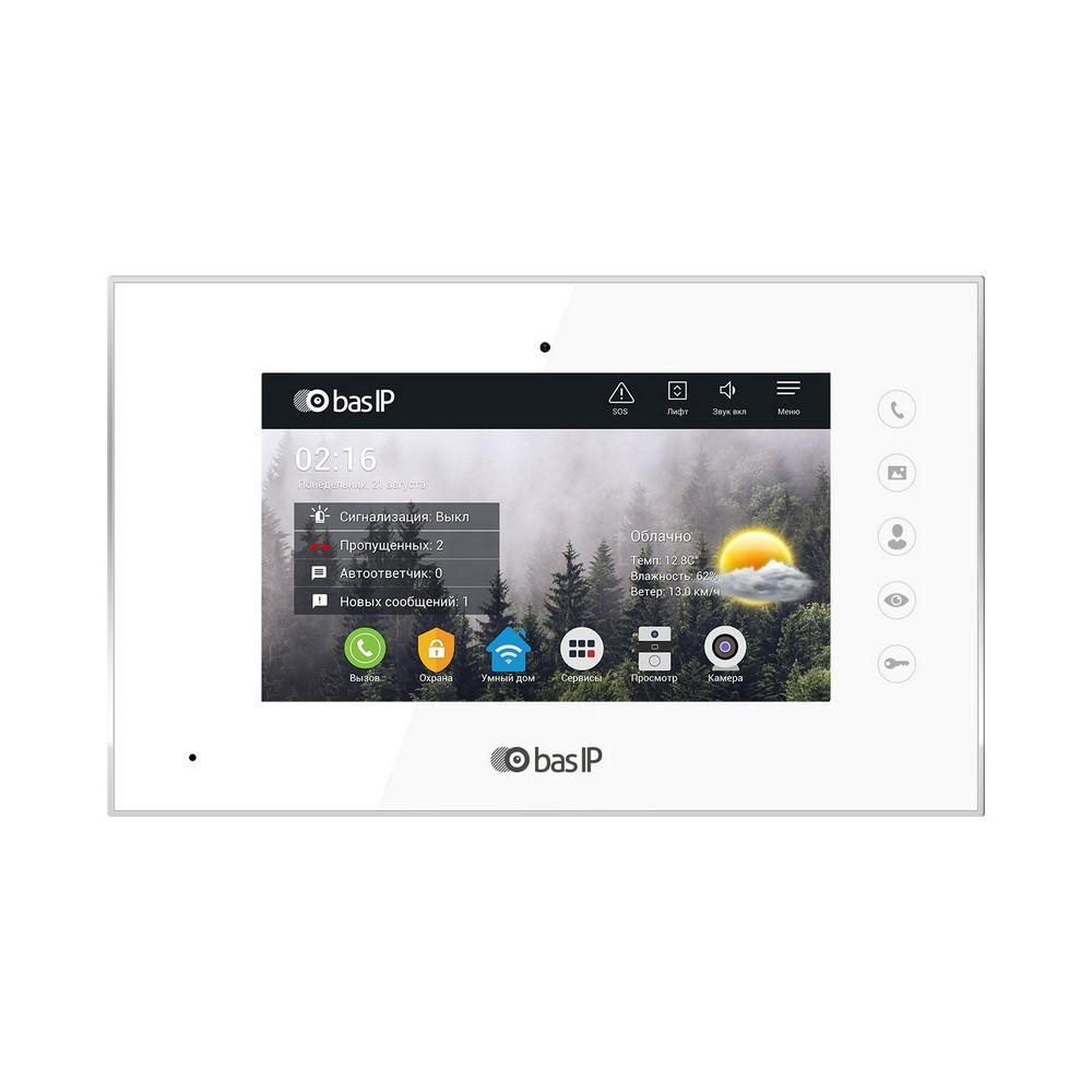 IP відеодомофон BasIP AQ-07L White