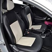 Чехлы на сиденья Toyota Corolla 2013-2018 из Экокожи (Союз АВТО), полный комплект (5 мест) Тойота Королла
