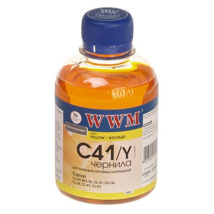 Чернила WWM Canon CL-31/38/41/51, CLI-8Y/36, Yellow, 200 г (C41/Y), краска для принтера, фото 2