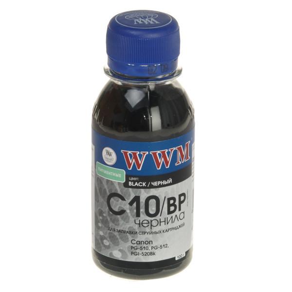 Чернила WWM Canon PG-510/512/440, PGI-425Bk/520Bk, Black Pigment, 100 г (C10/BP), краска для принтера