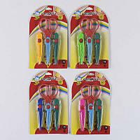 Ножницы С 36974 (144) фигурные, 4 вида, 16 см, на листе