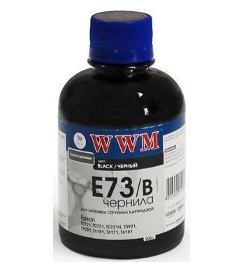 Чернила WWM Epson Stylus S22, SX125/130/230, T26/27, TX109/119, L100/200, Black, 200 г (E73/B), краска для