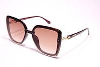 Солнцезащитные очки бабочка Fendi 11032 C2 реплика Коричневые с градиентом