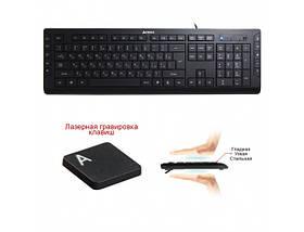Клавиатура A4tech KD-600, черная, клавиатура USB X-Slim, мультимедийная, фото 3