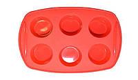 Форма силиконовая для кексов 6шт 30*20,7*3,3см 26-184-027 Krauff