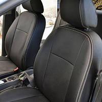 Чехлы на сиденья Chevrolet Aveo 2011-2017 из Экокожи (Союз АВТО), полный комплект (5 мест) Шевроле Авео
