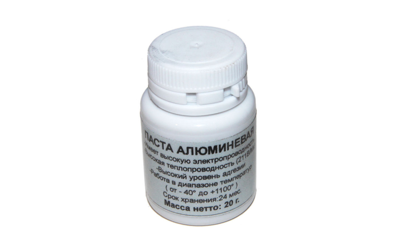 Термопаста алюминевая, банка, 20 г, 211 Вт/мК, -40 гр.C / +1100 гр.C