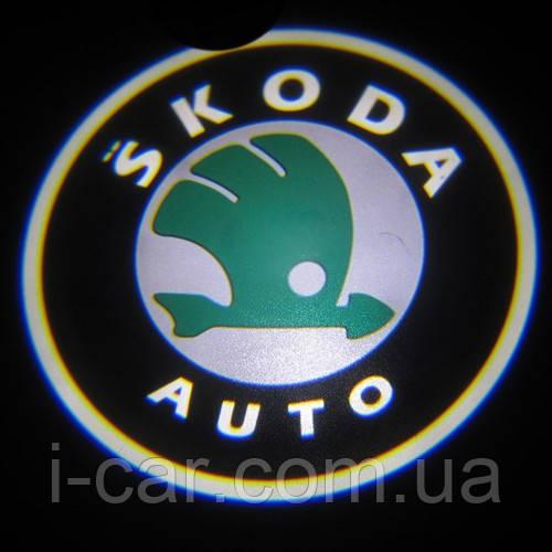 Проекция логотипа автомобиля SKODA