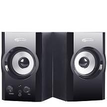 Колонки для компьютера 2.0 Gemix TF-3 Black, акустика, акустическая система, фото 2