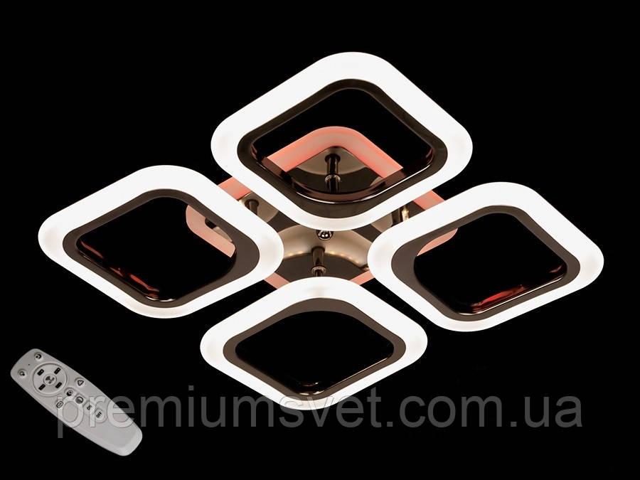 Стельова світлодіодна люстра AS8060/4 BHR LED 3color dimmer
