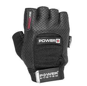 Рукавички для фітнесу та спортзалу чоловічі з перфорацією Power Plus PS-2500 System Power, чорні
