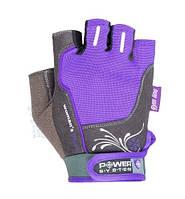 Женские перчатки для занятий в тренажерном зале Woman's Power PS-2570 Power System, фиолетовый
