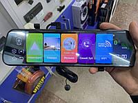 Зеркало регистратор DVR E05 с GPS, 2 камеры, 10 дюймов, Android, 3G