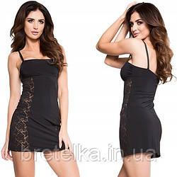 Комбинация под платье черная с кружевом Julimex Honey