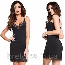 Комбинация под платье черная с кружевом Julimex Sugar