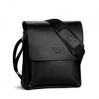 Мужская сумка через плечо Polo Videng Black 323r, КОД: 1334118