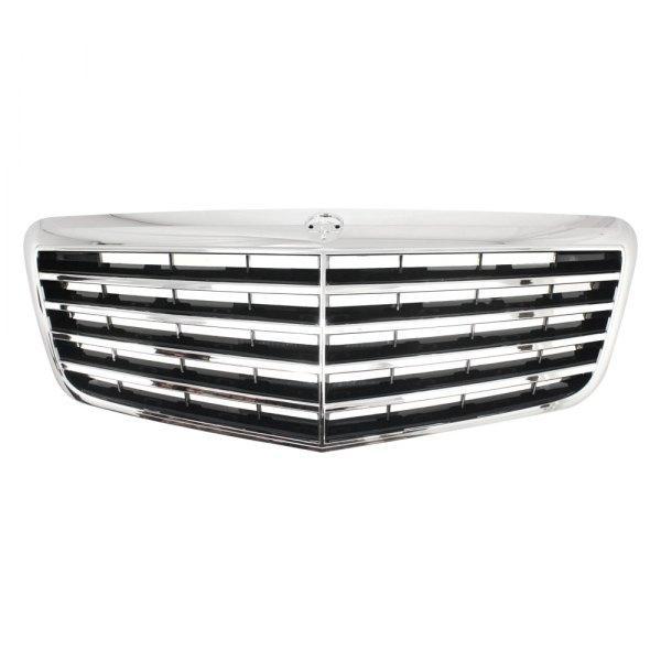 Решетка радиатора Mercedes E-Class W211 06-09 комплект, хром/черная (FPS) 2118801783